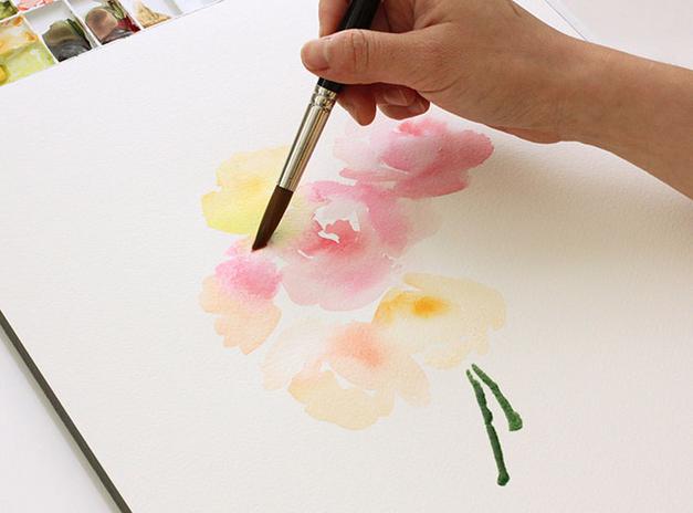 Пошагово рисуем цветы акварелью