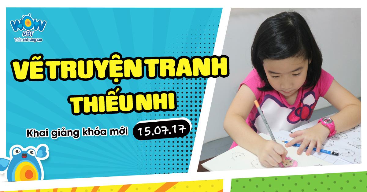 Lớp Vẽ Truyện tranh Thiếu Nhi Wow Art (8-12 tuổi)