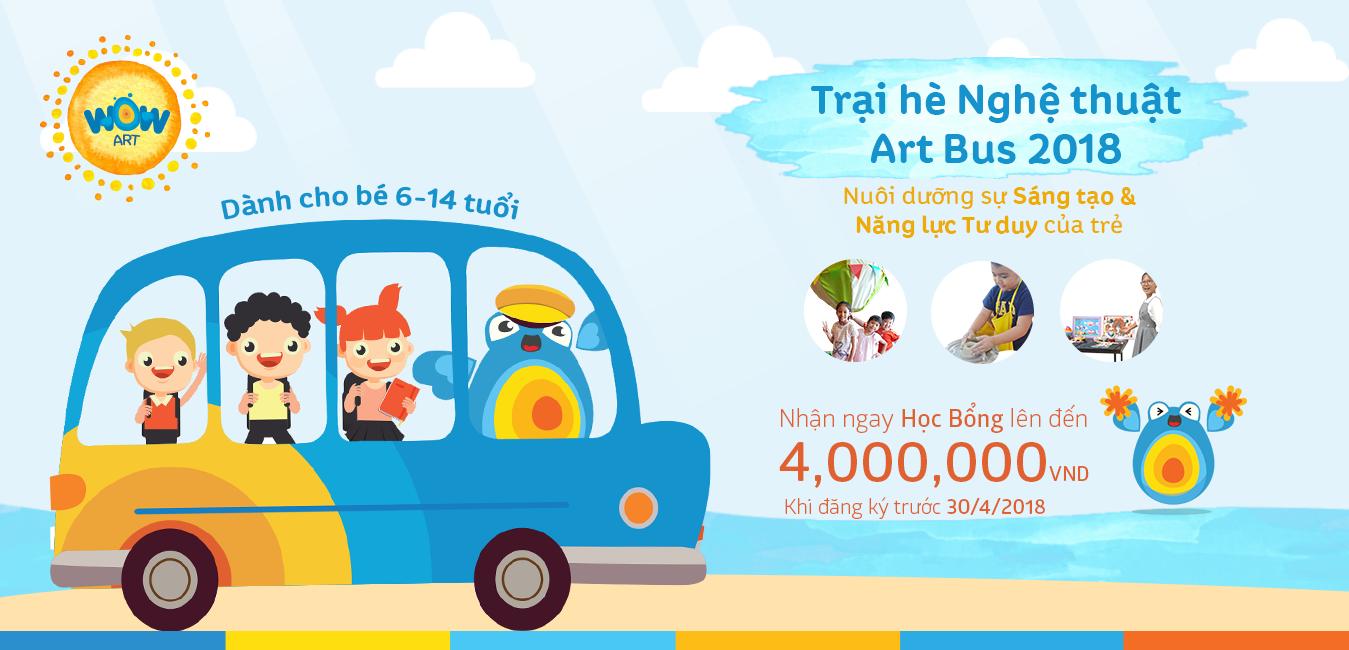 Trại Hè Bán trú Art Bus 2018 - Hành trình Sáng tạo