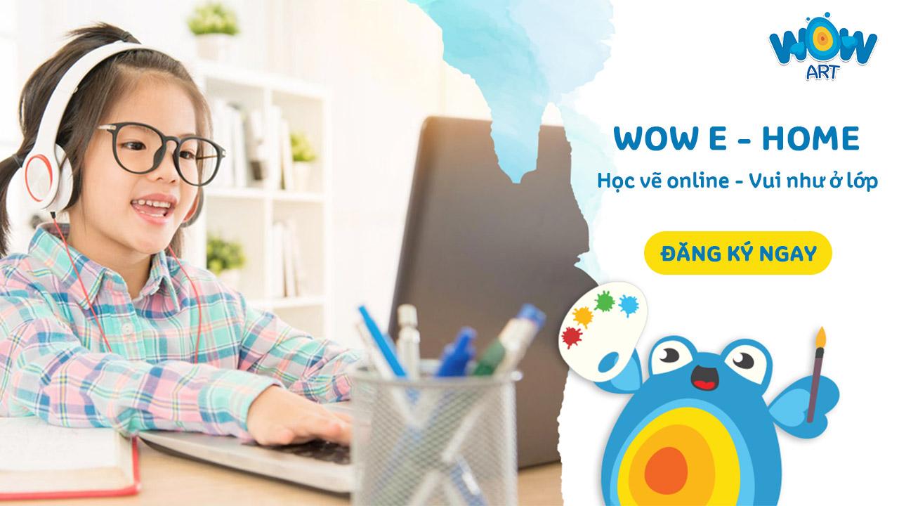 lớp vẽ online tại nhà cho bé của wow art